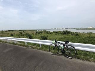 天竜川堤防北上ラン